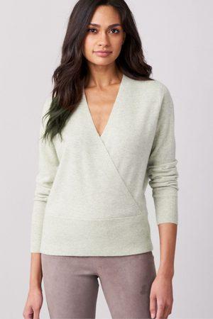 REPEAT cashmere Cashmere Cross Front Knit