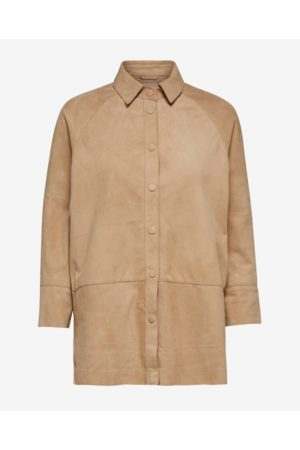 Selected Curds & Whey Suede Shirt