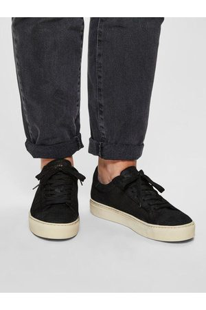 Selected Donna Croco Suede Trainer
