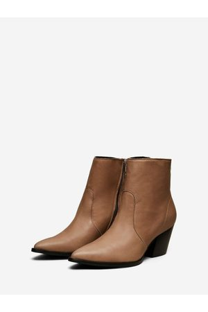 Selected Julie Leather Boots (Tigers Eye)