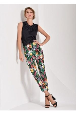 Robell Trousers Rose 09 in jungle print.