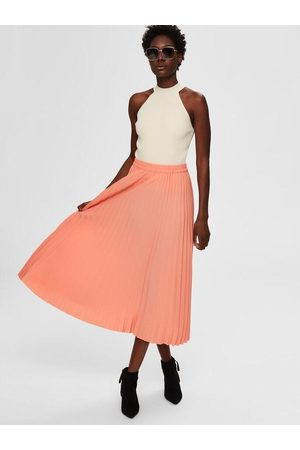 Selected Women Midi Skirts - Alexis Midi Skirt (Burnt Coral)