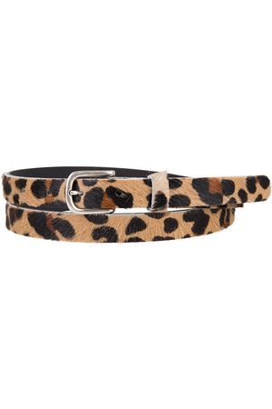 Yunion T Leopard print leather belt