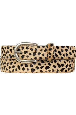 Yunion T Women Belts - Cheetah print leather belt