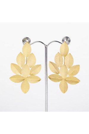 Yunion T Large Leaf Cluster Earrings