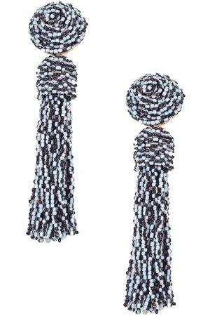 Blaiz & White Tassel Earrings