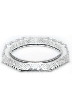 Douglaspoon Octagon Bangle in Clear