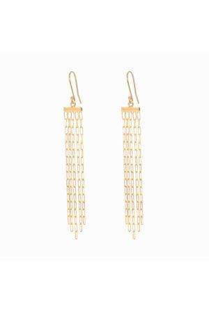Dinari Jewels Long Vermeil Multi Chain Earrings