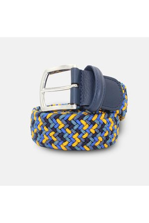 Anderson's Men Belts - Andersons Woven Textile Belt - Blues &