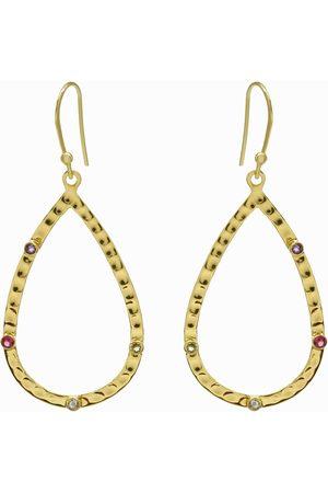Dinari Jewels Multi Gemstone Teardrop Earrings