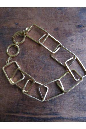 Collard Manson Plated rectangle link bracelet