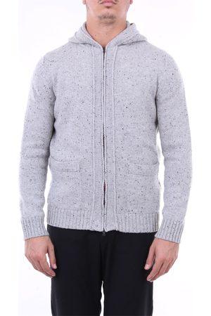 Angelo Marino Sweatshirt in extrafine merino wool with hood