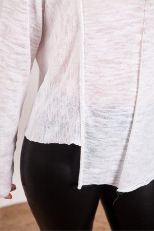 CREA White V Neck Knit
