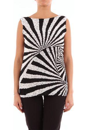 PAROSH Two-tone sequined sleeveless top