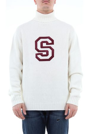 Lanificio Pubblico Turtleneck with high collar and front letter