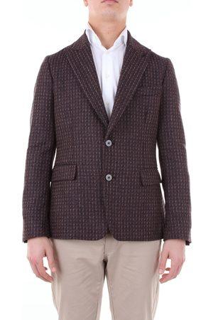 Reveres Jacket Men Beige and burgundy