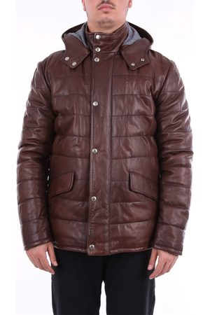 BARBA Leather Jackets - Long solid color leather jacket