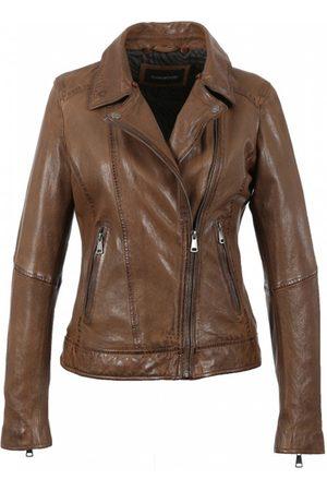 Oakwood Follower Biker Jacket with Fur Collar