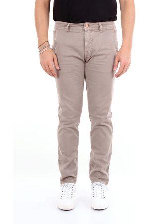 BARBA Dove gray regular trousers