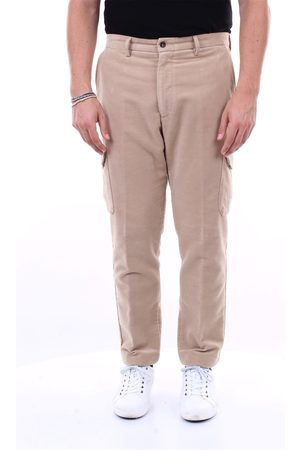 BARBA Solid color cargo pants with america pocket