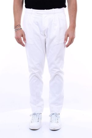 ELEVENTY Solid color trousers in stretch cotton