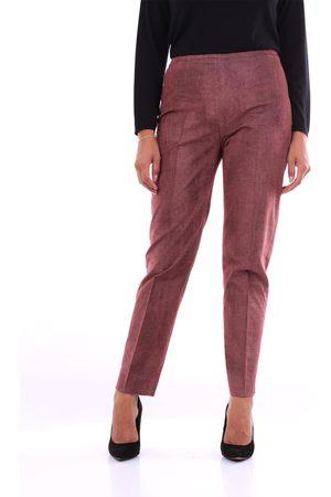PT Torino Trousers Chino Women Brown and burgundy