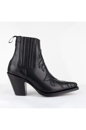 Tony Mora Western Ankle Boot - Black