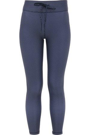 The Upside Women Sports Leggings - Navy Polka Dot Midi Leggings