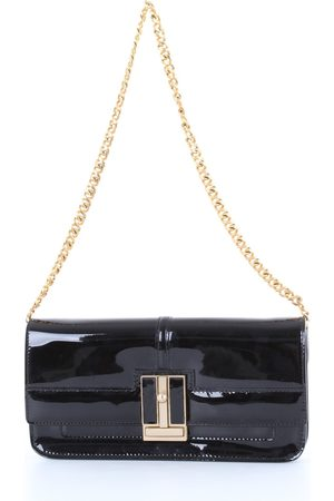 santoni Solid color leather clutch bag