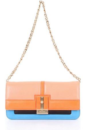 santoni Multicolor leather clutch bag