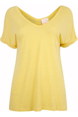 ABSOLUT CASHMERE Scoop V-neck T Yellow