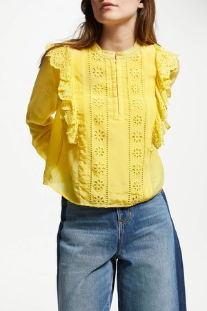 Scotch&Soda Embroidered Frill Blouse