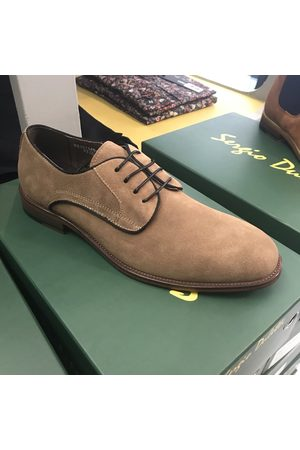 Sergio Duletti Women Formal Shoes - Conor Beige Suede Derby Shoes