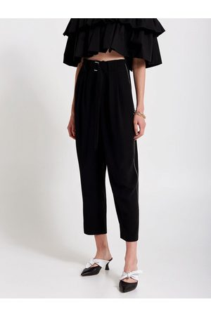 Odyl Black double seam trousers