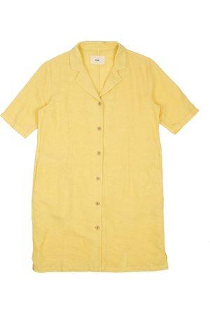 FOLK CLOTHING FOLK Soft Collar Dress - LIGHT GOLD