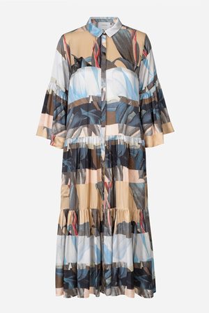 Munthe Lately Nature Silk Print Dress