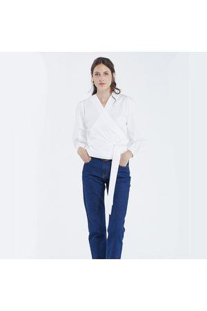 Maison Labiche Crossover Blouse - White