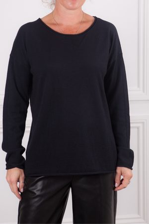 Sita Murt Navy Crew Neck Knit