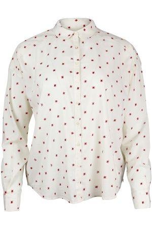 Scotch&Soda Scotch & Soda Round Collar Cotton-Blend Patterned Shirt