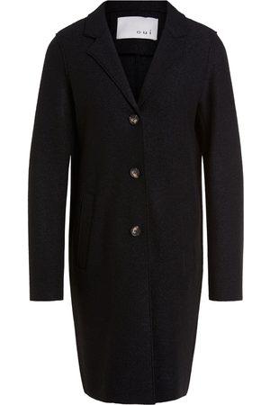 Oui Boyfriend Coat Black