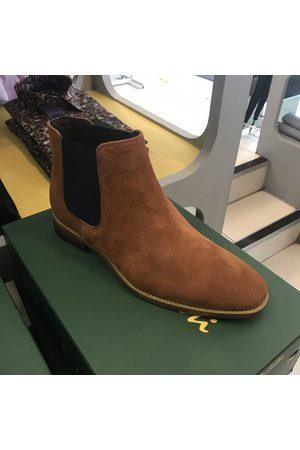 Sergio Duletti Simon Tan & Navy Suede Chelsea Boots