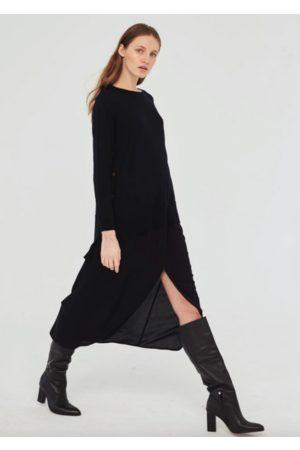 Sita Murt Long skirt with zip front - Navy