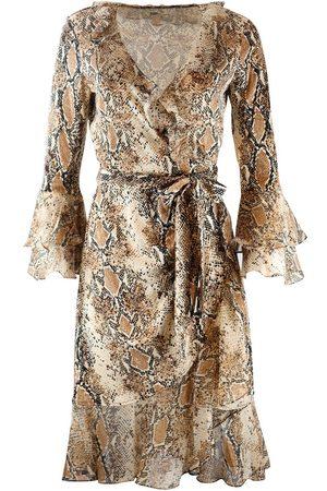 Diane von Furstenberg Women Casual Dresses - DVF Carli Ruffle Silk Jersey Wrap Dress