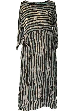 Collard Manson Yavi Eriko Dress - Black/White/Blue Stripe