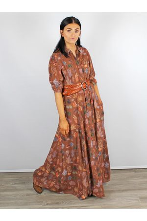 Bl-nk Maxi Shirt Dress & Brown Blank London