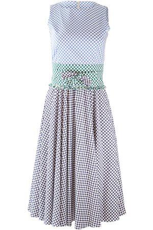 MARELLA Check Sleeveless Midi Dress