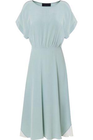 Edward Mongzar Hand Dyed Silk Misty Marbled Dress