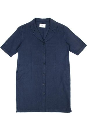 FOLK CLOTHING FOLK Soft Collar Dress - NAVY