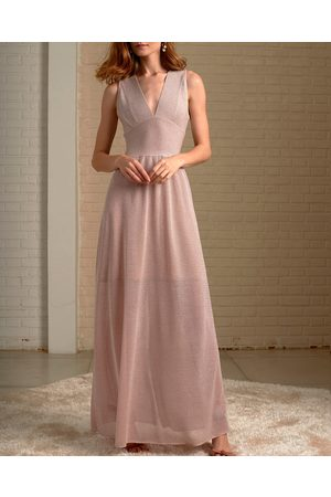 CECILIA PRADO Sparkly Sleeveless Maxi Dress