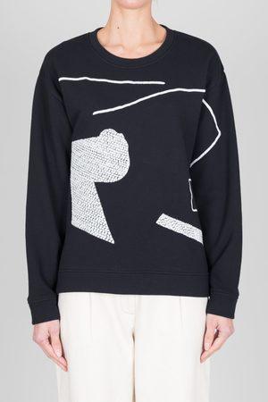 FOLK CLOTHING FOLK Scrap Sweat - / ECRU Stitching - LASP PIECE